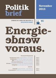 VCI-Politikbrief 1/2013 - Verband der Chemischen Industrie e.V.