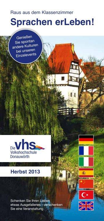 Sprachen erLeben! - VHS Donauwörth
