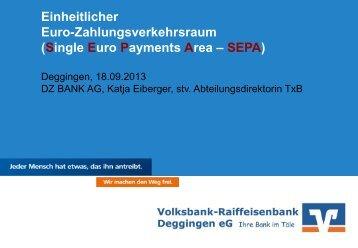 Einheitlicher Euro-Zahlungsverkehrsraum SEPA - Volksbank ...