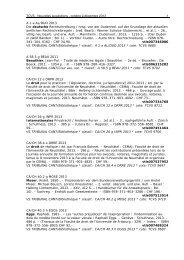 TCVS - Nouvelles acquisitions - octobre à décembre 2013 1 A 1 a ...