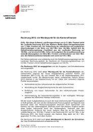 Rechnung 2012: ein Wendepunkt für die ... - Etat du Valais