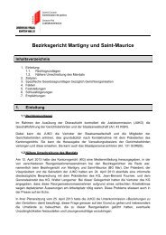 Bezirksgericht Martigny und Saint-Maurice