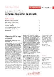 Newsletter Verbraucherpolitik EU aktuell 2/2014 - vzbv