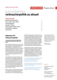 Newsletter Verbraucherpolitik EU aktuell 12/2013 - vzbv