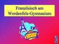 Sprachenwahl Französisch - Werdenfels-Gymnasium