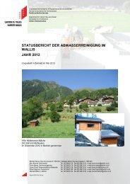 statusbericht der abwasserreinigung im wallis jahr ... - Etat du Valais