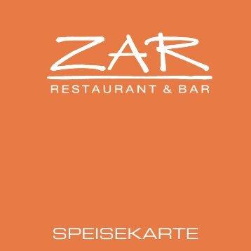SPEISEKARTE - ZAR Restaurant & Bar