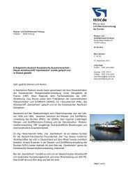 Erfolgreiche deutsch-französische Zusammenarbeit - WSV