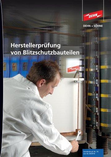 Elektroinstallation - Dehn + Söhne Blitzschutzsysteme