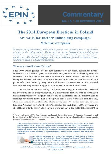 Commentary - The Centre for European Policy Studies