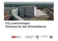 CO -Löschanlagen Hinweise für den Einsatzdienst - AGBF NRW