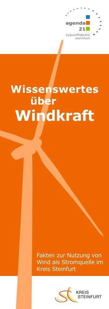 """Broschüre """"Wissenswertes zur Windkraft"""" - Kreis Steinfurt"""
