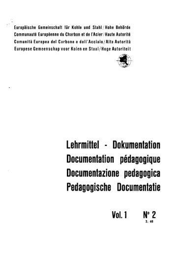 Documentation pédagogique Documentazione pedagogica ...
