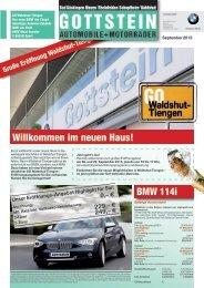Hauszeitung Ausgabe September 2013. (PDF, 2178k) - BMW Gottstein