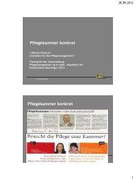 Pflegekammer konkret - Akademie der Kreiskliniken Reutlingen