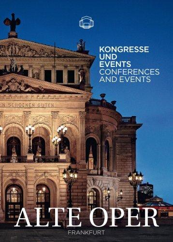 Download Kongressbroschüre - Alte Oper Frankfurt