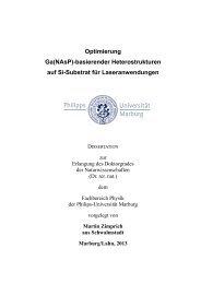 Optimierung Ga(NAsP)-basierender Heterostrukturen auf Si ...