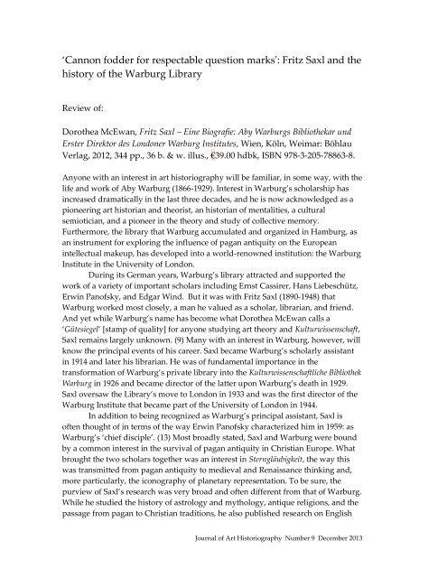 9/MAR1 - Journal of Art Historiography