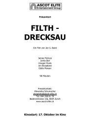 Filth Presseheft - Ascot Elite Entertainment Group