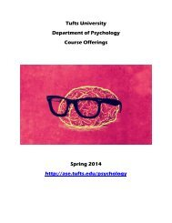 Spring 2014 Course Booklet - Tufts University