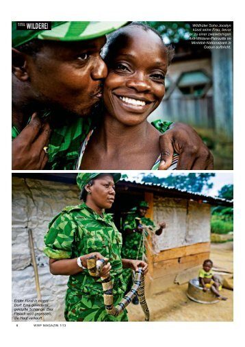 Wildhüter Soho Jocelyn küsst seine Frau, bevor er ... - WWF Schweiz