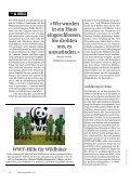 Wildhüter Soho Jocelyn küsst seine Frau, bevor er ... - WWF Schweiz - Page 7