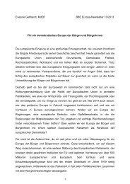 Für ein demokratisches Europa der Bürger und Bürgerinnen - BBE