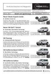 Neuer Skoda Superb Combi Neuer VW Golf 7 ... - TOHA Automobil