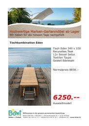 Hochwertige Marken-Gartenmöbel ab Lager - Ap-backoffice.ch
