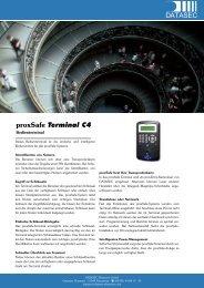 proxsafe Terminal C4 - DATASEC Electronic Gmbh