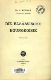 Die elsassische Bourgeoisie