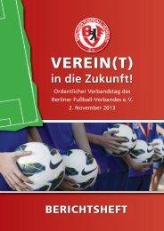 Berichtsheft zum Verbandstag 2013 - Berliner Fußball-Verband e.V.