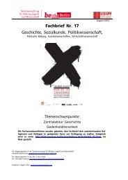 Fachbrief Nr. 17 - Geschichte, Sozialkunde, Politikwissenschaft ...