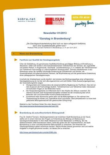 Newsletter 01/2013 - Bildungsserver Berlin - Brandenburg