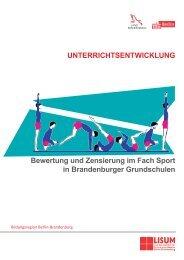 Bewertung und Zensierung im Fach Sport in Brandenburger ...