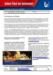 Newsletter 05/2013 Nachlese Achter JeKi-Tag, Termine ...