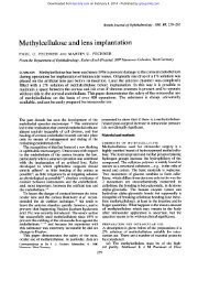 Methylcellulose and lens implantation - British Journal of ...