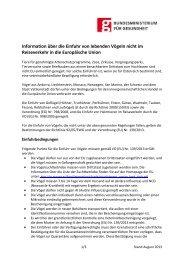 Information über die Einfuhr von Vögeln (Deutsche Fassung)