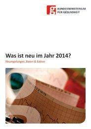 Was ist neu im Jahr 2014? - Bundesministerium für Gesundheit