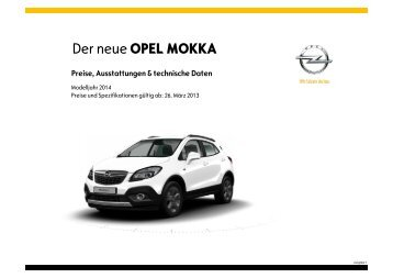 Der neue OPEL MOKKA - Motorline.cc