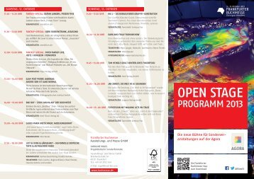 open staGe - Frankfurter Buchmesse