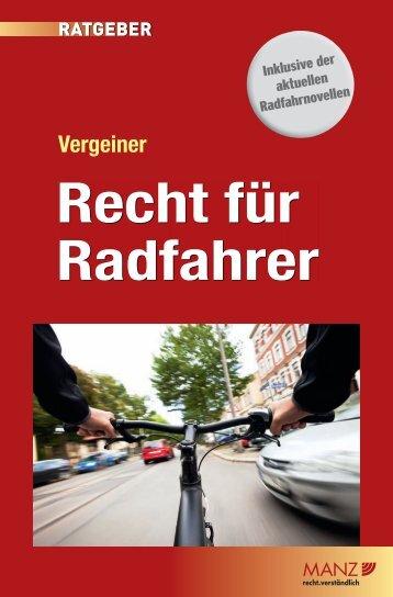 Recht für Radfahrer - Manz