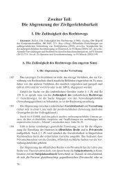 Zweiter Teil: Die Abgrenzung der Zivilgerichtsbarkeit - Manz