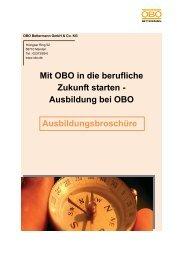 Mit OBO in die berufliche Zukunft starten ... - OBO Bettermann