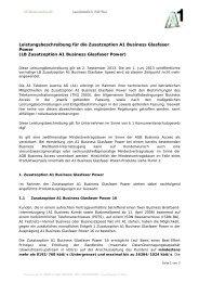 Leistungsbeschreibung für die Zusatzoption A1 Business ... - A1.net