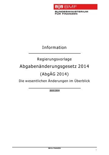 Abgabenänderungsgesetz 2014