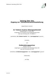 Vertrag über den - A1.net