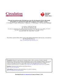 Chronic 3-Adrenoceptor Blockade Prevents the ... - Circulation
