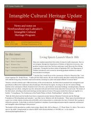 Intangible Cultural Heritage Update - Memorial University of ...
