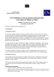 EU Guidelines on the promotion and protection of freedom of ...